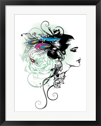 Framed Feathers of Love Print