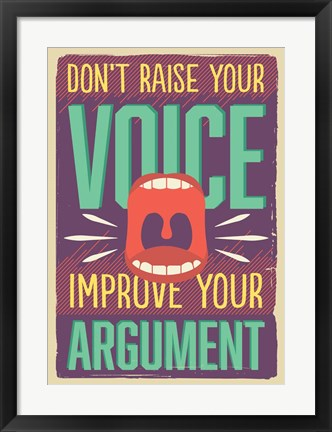 Framed Improve Your Argument Print