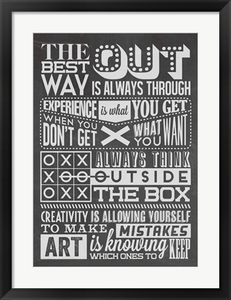 Framed Creativity Set Black Print