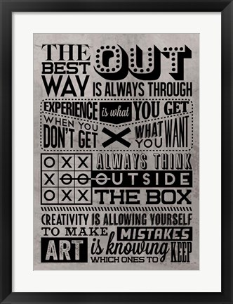 Framed Creativity Set Grey Print