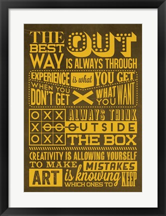 Framed Creative Set Yellow Print