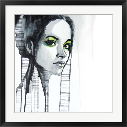 Framed Green Eyes Print