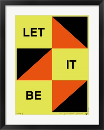 Framed Let It Be Print