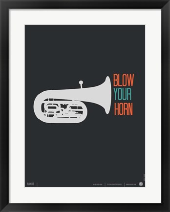 Framed Blow Your Horn Print