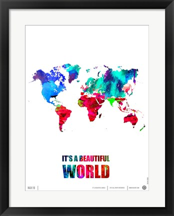 Framed It's a Beautifull World Print