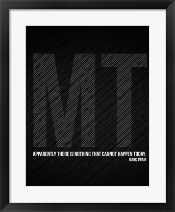 Framed Mark Twain Quote Print