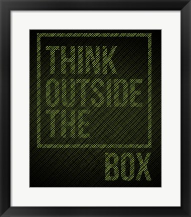 Framed Think Outside of The Box Print