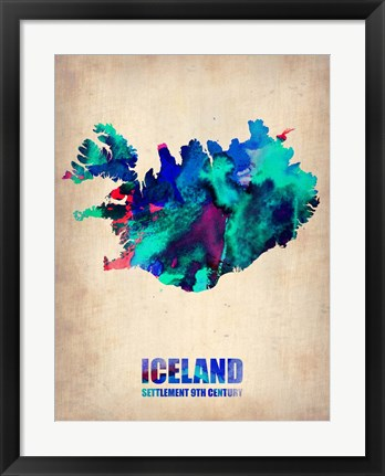 Framed Iceland Watercolor Print