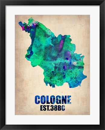 Framed Cologne Watercolor Print