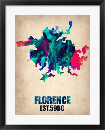 Framed Florence Watercolor Print