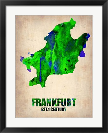 Framed Frankfurt Watercolor Print
