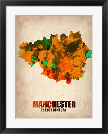 Framed Manchester Watercolor Print