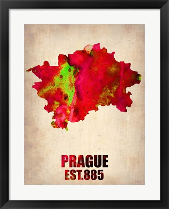 Framed Prague Watercolor Print