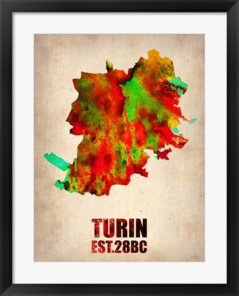 Framed Turin Watercolor Print