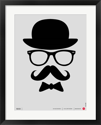 Framed Hats Glasses and Mustache 1 Print