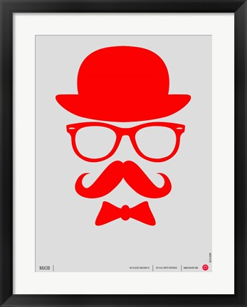 Framed Hats Glasses and Mustache 2 Print
