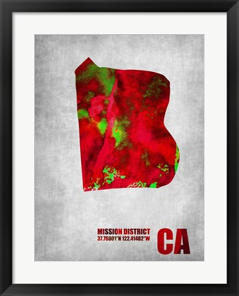 Framed Mission District California Print