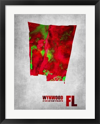 Framed Wynwood Florida Print