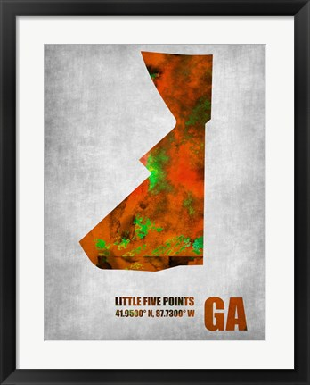 Framed Little Five Points Georgia Print