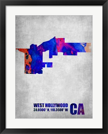 Framed West Hollywood California Print
