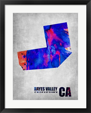 Framed Hayes Valley California Print