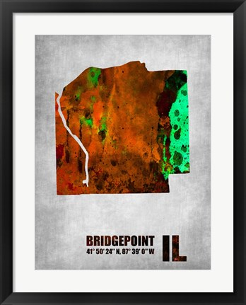 Framed Bridgepoint Illinois Print