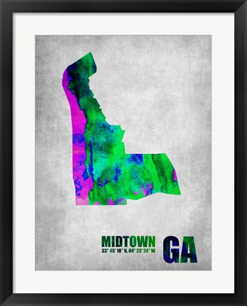 Framed Midtown Georgia Print