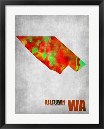 Framed Belltown Washington Print