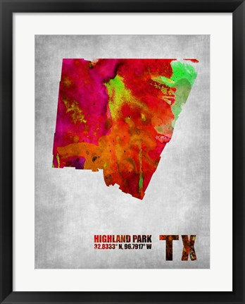 Framed Highland Park Texas Print