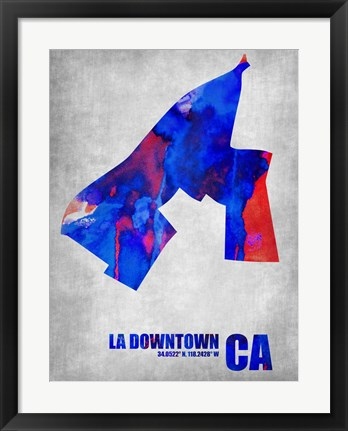 Framed Downtown Los Angeles California Print
