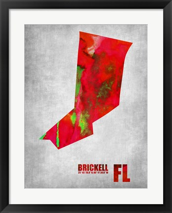 Framed Brickell Florida Print