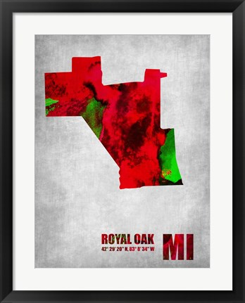 Framed Royal Oak Michigan Print