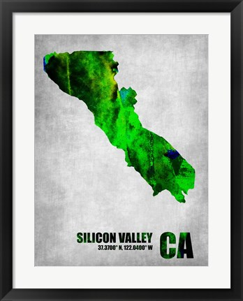 Framed Silicon Valley California Print