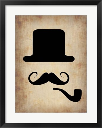 Framed Hat Glasses and Mustache 4 Print