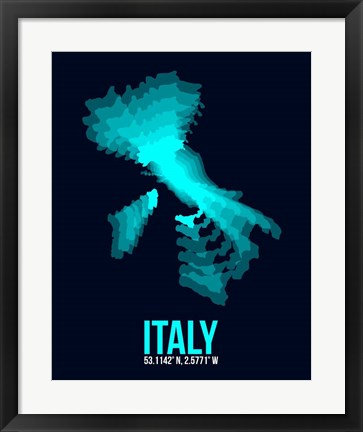 Framed Italy Radiant Map 1 Print