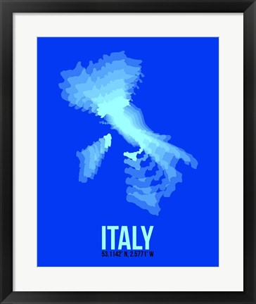 Framed Italy Radiant Map 4 Print