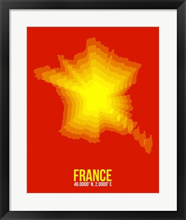 Framed France Radiant Map 1 Print