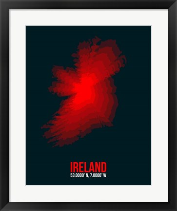 Framed Ireland Radiant Map 1 Print