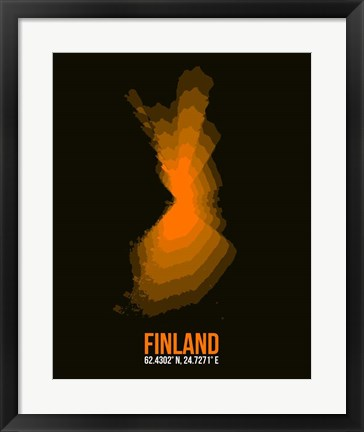 Framed Finland Radiant Map 2 Print