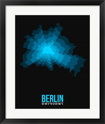 Framed Berlin Radiant Map 1 Print