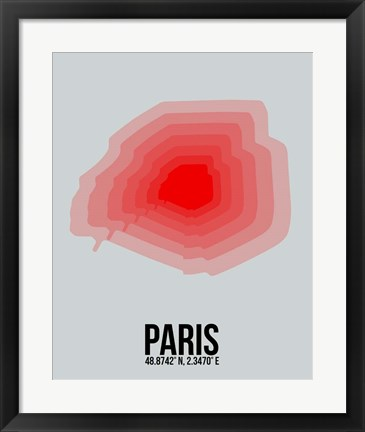 Framed Paris Radiant Map 1 Print