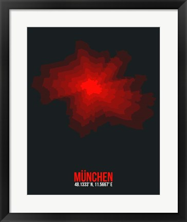 Framed Munchen Radiant Map 2 Print