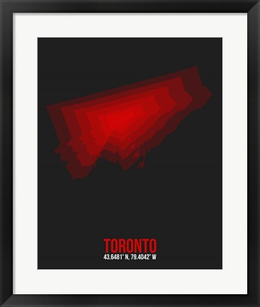 Framed Toronto Radiant Map 1 Print