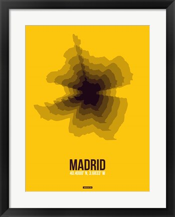 Framed Madrid Radiant Map 3 Print