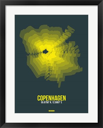 Framed Copenhagen Radiant Map 1 Print