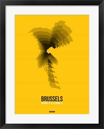 Framed Brussels Radiant Map 4 Print