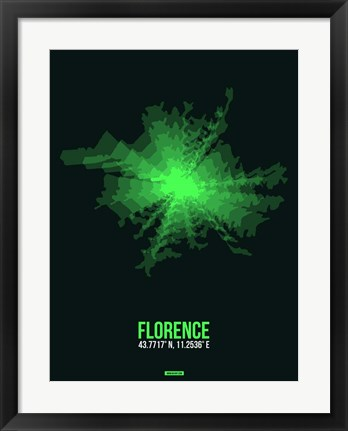 Framed Florence Radiant Map 3 Print