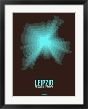 Framed Leipzig Radiant Map 2 Print