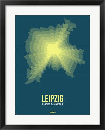 Framed Leipzig Radiant Map 3 Print