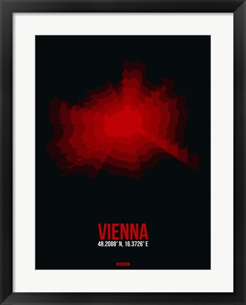 Framed Vienna Radiant Map 3 Print